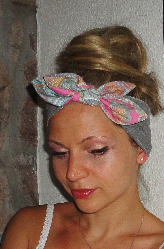 LAST One Retro Headband hair band  turban head wrap Wide Stretchy  Fashion, all day comfort ...