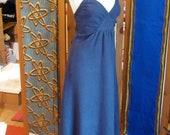 CUSTOM Halter Dress, Sun Dress, Beach Wedding Dress for bridesmaids or for the BRIDE herself