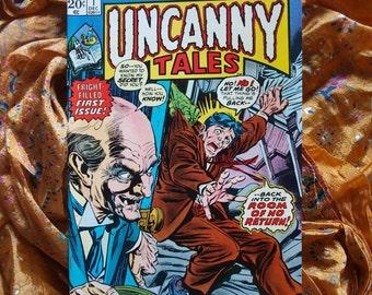 Uncanny Tales No 1 from 1973 Marvel Comics Horror Sci Fi Room Of No Return Chicken Head Propaganda