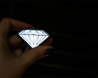 Diamond Necklace Diamond pendant necklace Best Seller Top Seller Elegant jewelry Personalized jewelry Laser cut necklace Acrylic necklace
