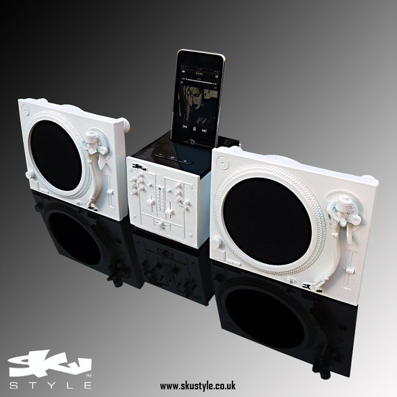 Bespoke iPhone / iPod / Any Smart Phone / Turntables & Mixer Design Music Docking Station by Sku Style -  Bluetooth