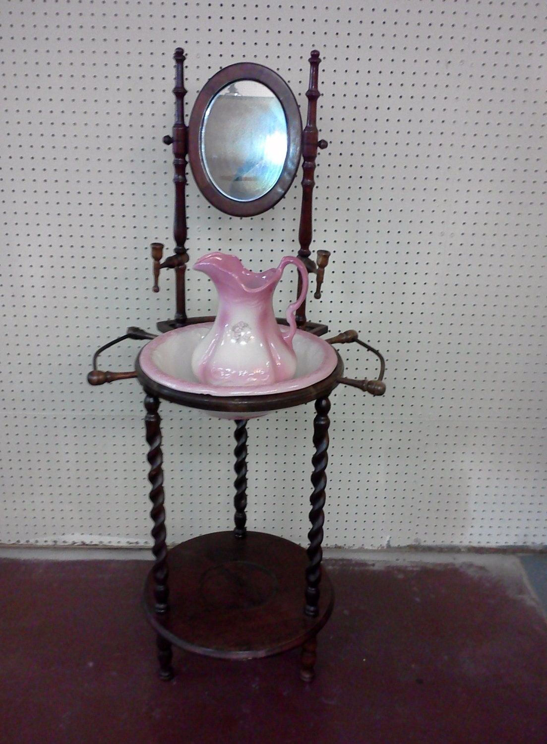 Reserved For Erin Vintage Wash Stand With By Fingerlakesfinds