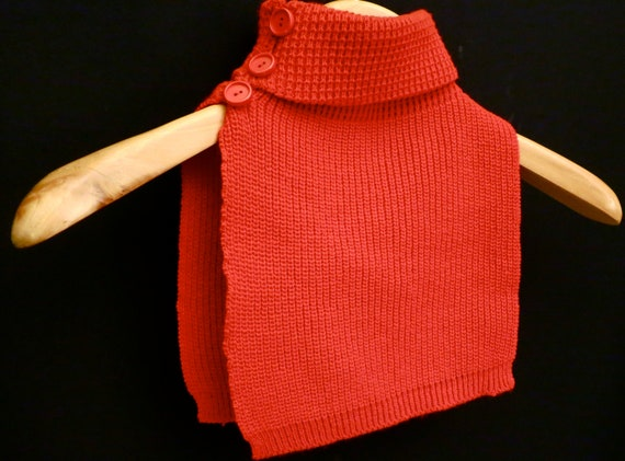 Red Turtleneck Sweater Womens