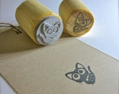 Cat Rubber Stamp - Black Kitty Stamp - 2 sizes to choose from - O023