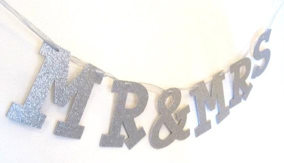 "Glitter Letter Banner Garland, 4"" Letters, Custom for wedding, baby shower, bachelorette, bridal shower, holiday, birthday, photo props"