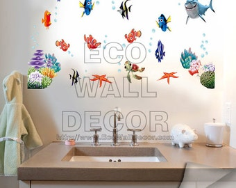 PEEL and STICK Removable Vinyl Wall Sticker Mural Decal Art - Finding Nemo Underwater I
