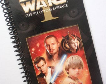 STAR WARS Notebook Journal upcycled spiral notebook Recyled Earth Friendly