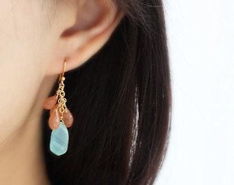 Beach Goddess Gemstone Earrings