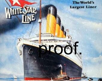 Titanic Maiden Voyage Vintage Travel Poster reprint  13 x19 White Star Line