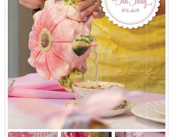 Vintage Tea Party Plan - Tea Party Plan - Tea Party - Girls Tea Party Birthday - Tea Party Birthday - Tea Party Ideas - Girls Birthday Party