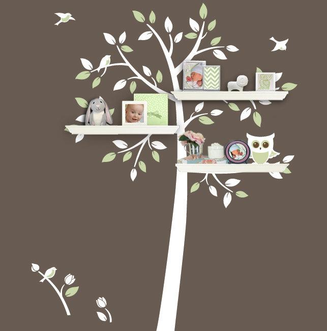 Tree Bookshelf Decal Set Wall Tree Decal For Shelf