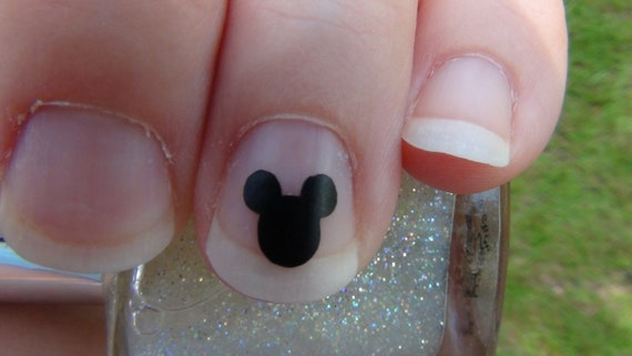 Mickey Mouse Inspired Nail Art Decals Set of 20 Vinyl Stickers Applique Manicure Pedicure Party Event Accessories