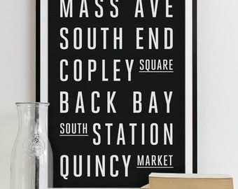home decor stores in boston subway sign roll typography poster subway print new 12495