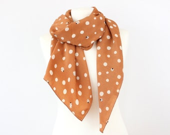 Ladybug and Polka Dot Korean Velvet Scarf