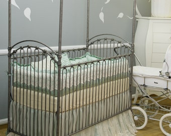 vintage elle collection silk and lace crib bedding