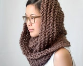 Infinity Scarf - Medium Wide Length - Earth Brown