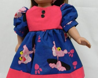 Pink Panther Dress  for 18 inch doll like the American Girl.