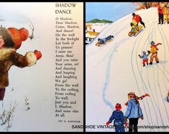 1970s SNOW SLEDDING WINTER Poems Scrapbooking Bundles