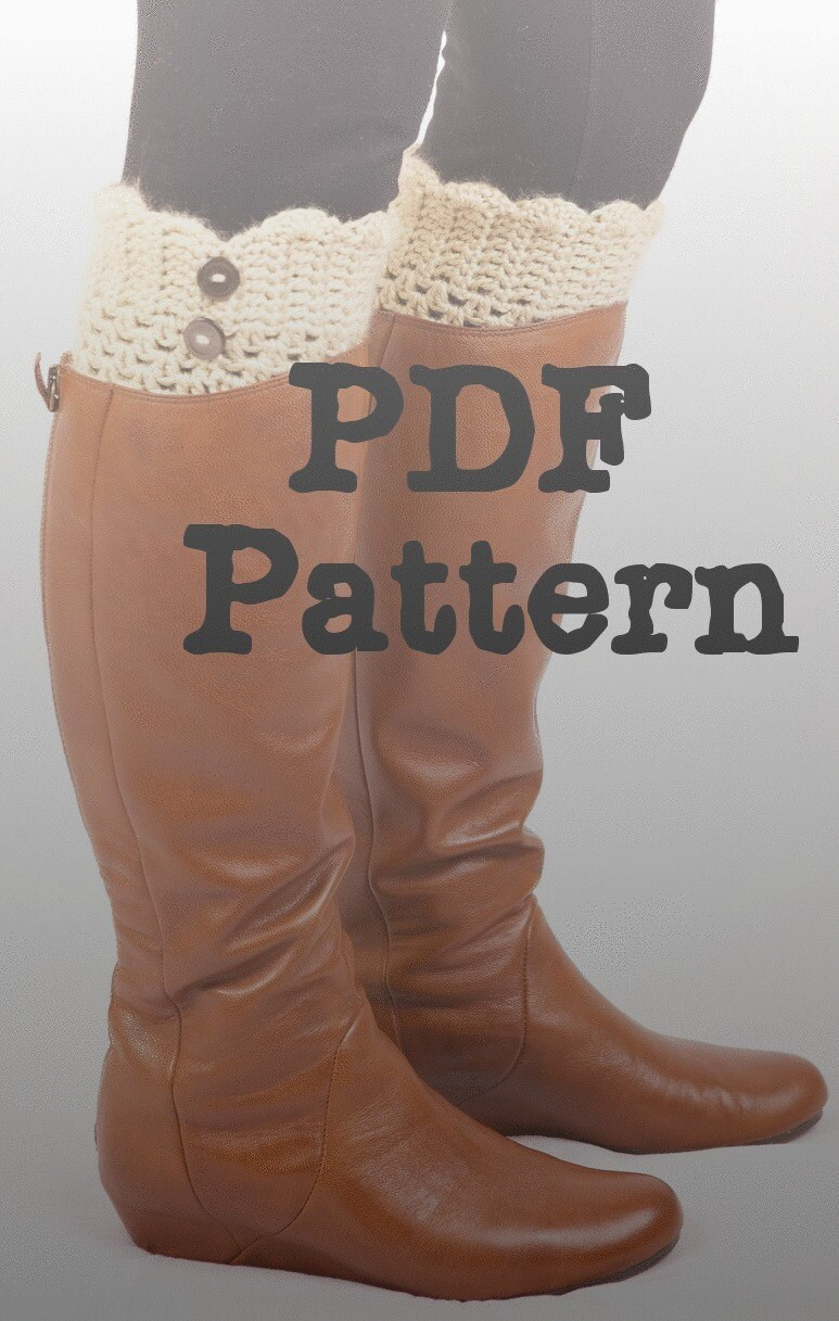 Beginner Crochet Boot Cuff Pattern : Crochet PATTERN-Boot Cuff The Vivian women by ChicandDapper