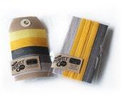 Perfect Hair Ties and Headbands - New Modern Lemonade - Set of 5 Elastic Hair Ties and 3 Headbands