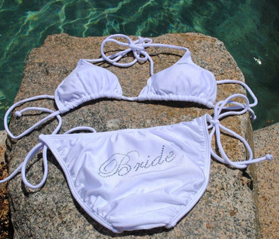 bride bikini 2 piece bride bathing suit bride swim suit bridal