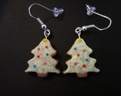 Christmas cookie earrings, holiday jewelry, xmas, tree