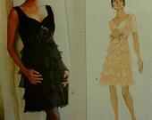 "Cocktail Party Dress by Bellville Sassoon -1990's - Vogue Designer Original Pattern 1518 Uncut  Size 12-14-16  Bust 34-36-38"""