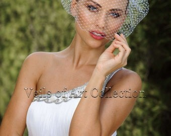 Russian Netting Birdcage Veil Blusher by Veils of Art Style VE501