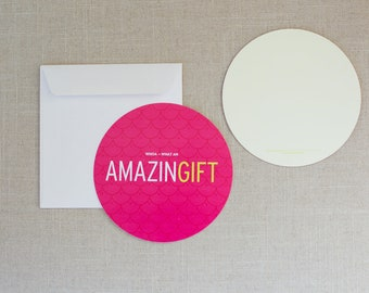 "Charitable Donation Thank You Cards - ""Amazing Gift"" - Set of 10"