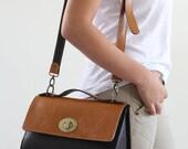 Leather bag, tote bag, women bag, brown, camel, purse,cross body bag