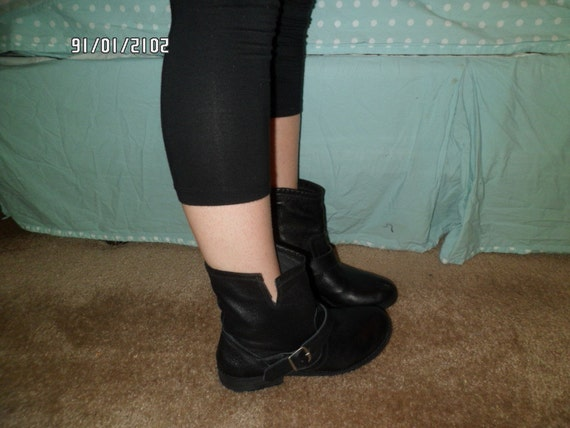 Vintage 90's MOTORCYCLE BOOTS leather size 8