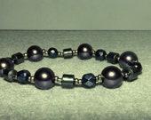 Metallic Shine Recycled Beaded Bracelet (-15% liquidation)