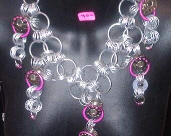 Large Chain-Bobbin Necklace