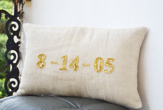 Items Similar To Personalized Pillows, Burlap Pillows