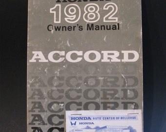 1982 Honda Accord Owner's Manual 00X31-SA5-0100