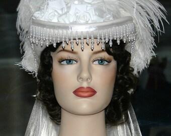 Victorian Hat SASS Hat Wedding Hat Victorian Tea Hat - Spirit of Milledgeville - Women's Western Hat