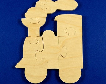 Train Party Favors Train Puzzle Wood Puzzles for Kids Train Birthday Choo Choo Puzzle Childrens Puzzle Wood Puzzle Jigsaw Puzzle Set of 10