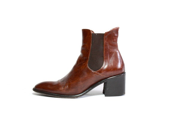 VTG Italian Leather Chelsea Ankle Boots 7.5