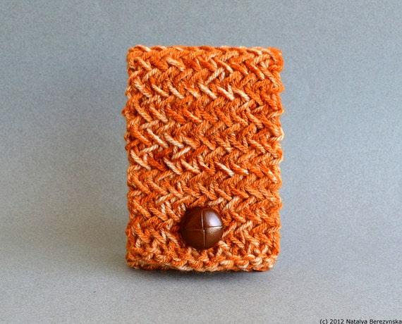 Last Minute Gift, Pumpkin Phone Case, Pumpkin iPhone Case, Pumpkin iPhone 6 Case, Crochet Phone Case, Orange Phone Case, Android Phone Case