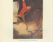 Peter Pan, Shadow Held on, Alice Woodward 15/1 Children's Book Illustration, Frameable Art, Nursery Wall Art, Vintage Print, 1923, Neverland