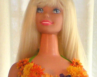 Vintage Dancing My Size Barbie with Handmade Dress