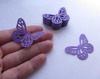 Paper butterflies 50 die cut butterflies, die cuts, wedding decorations, scrapbooking, weddings, purple butterflies, violet butterflies