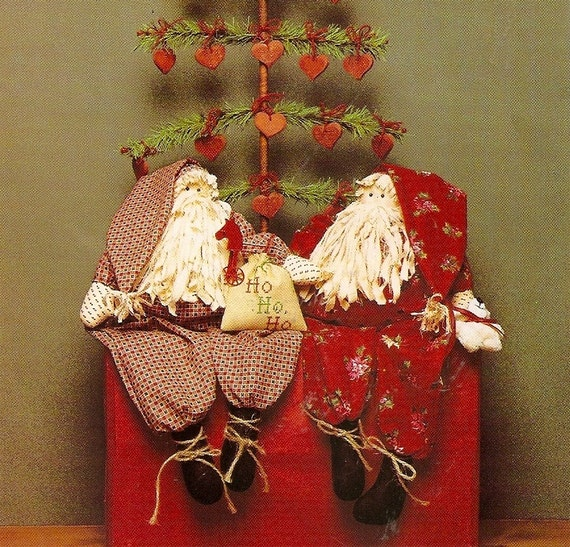 Christmas Decorations Sewing Pattern For SANTA Old Man