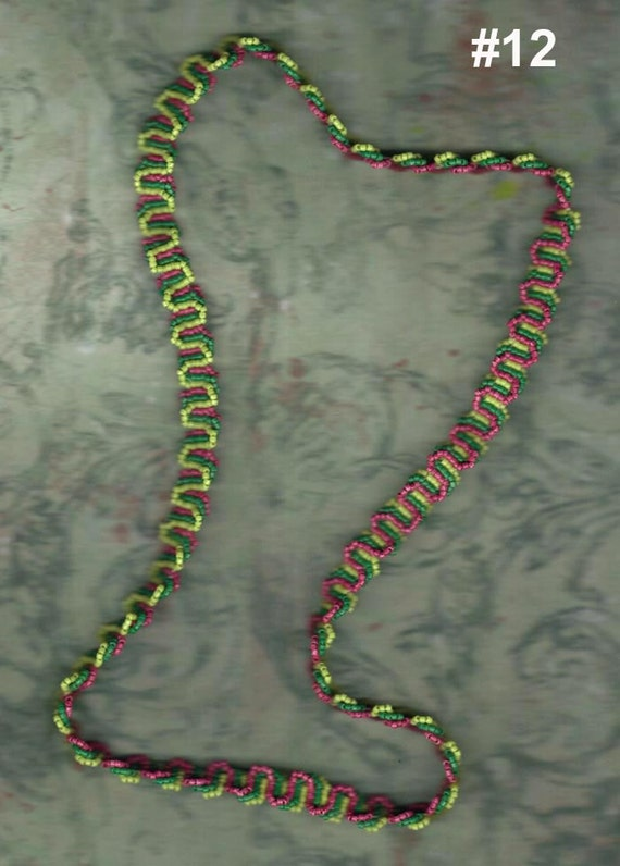 Loom Stitch Necklace Woven Loops Slip Over or Loop Bracelet Beadwork Beading Glass Seed Beads Tribal Jewelry Gift Fashion