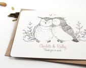 10 Personalized Notecards - Owls in Love