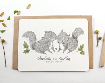 10 Personalized Notecards - Sweet Kisses
