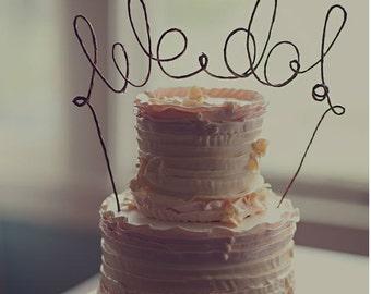 Rustic WE DO Wedding Cake Topper, Rustic Wedding Cake Topper, Rustic Wedding Decoration, Wedding Cake Decoration, Engagement, Bridal Shower