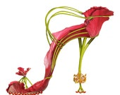 "Solelicitation ""Shoe Fleur"" 5X7 greeting card"