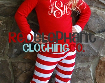 Kids Christmas Pajamas, Family Christmas Pajamas, Personalized Christmas Pajamas, Monogram Pajamas, Adult Christmas Pajamas, Matching Pajama