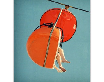 mid century art // pop color print // orange art // modern photography  art - SkyGlider I, large print